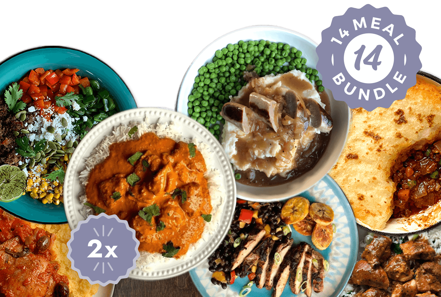 Around The World in 7 Days (14-meal Bundle)